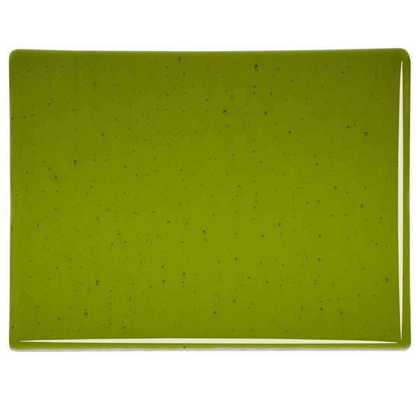 Bullseye Lily Pad Green - Transparent - 3mm - Fusible Glass Sheets