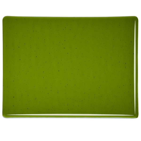 Bullseye Medieval Green - Transparent - 3mm - Fusible Glass Sheets