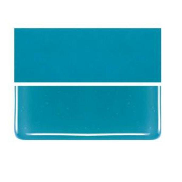 Bullseye Blue Green - Opalescent - 3mm - Plaque Non-Fusing