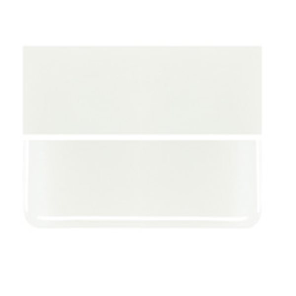 Bullseye White - Opalescent - 3mm - Fusible Glass Sheets