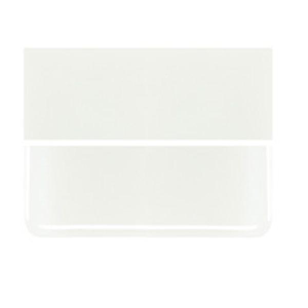 Bullseye White - Opalescent - 3mm - Plaque Fusing