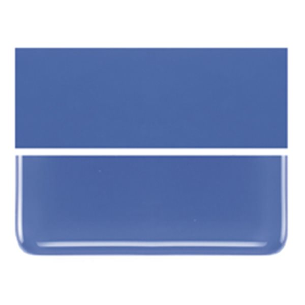 Bullseye Cobalt Blue - Opalescent - 2mm - Thin Rolled - Fusible Glass Sheets
