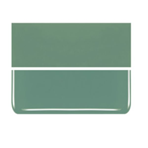 Bullseye Mineral Green - Opalescent - 3mm - Fusible Glass Sheets