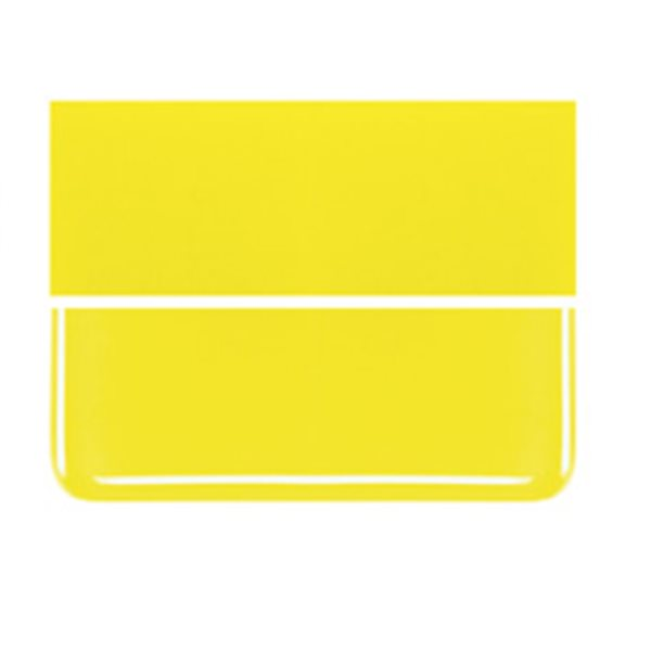 Bullseye Canary Yellow - Opalescent - 2mm - Thin Rolled - Plaque Fusing
