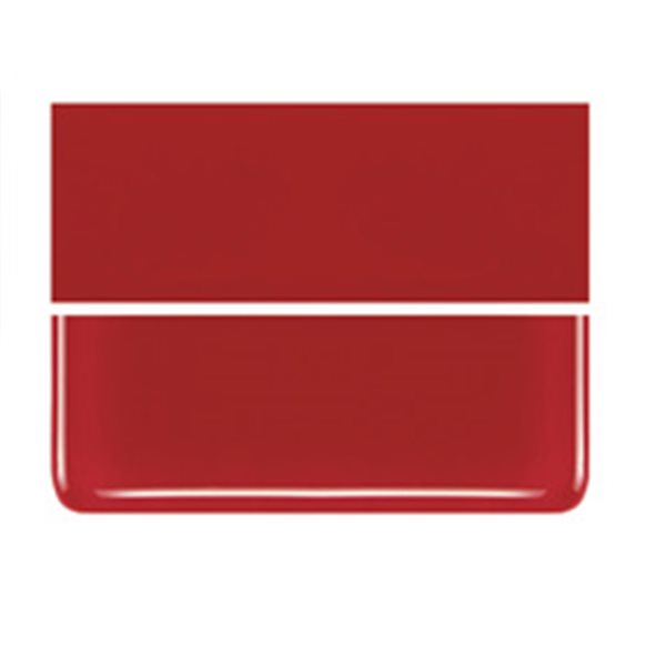 Bullseye Red - Opalescent - 2mm - Thin Rolled - Fusible Glass Sheets