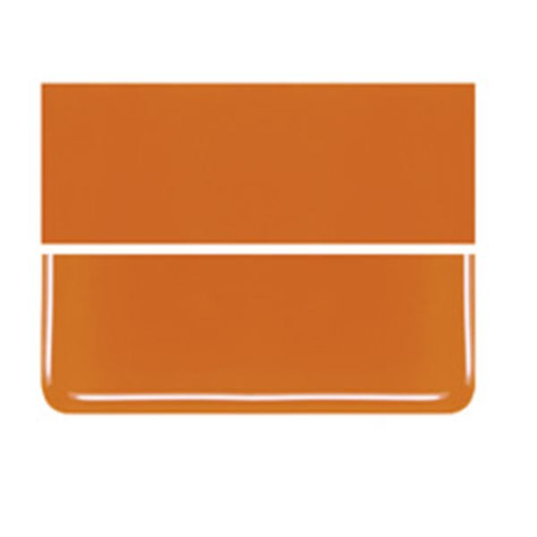 Bullseye Orange - Opalescent - 2mm - Thin Rolled - Fusible Glass Sheets