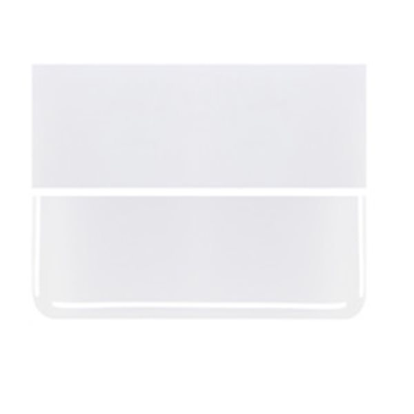 Bullseye Lacy White - Opalescent - 3mm - Plaque Fusing