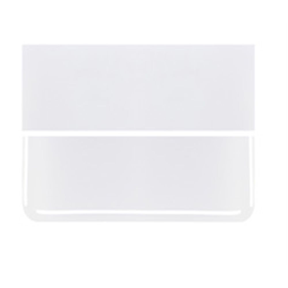 Bullseye Lacy White - Opalescent - 3mm - Fusible Glass Sheets