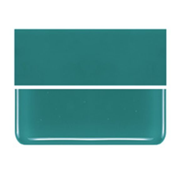 Bullseye Teal Green - Opalescent - 2mm - Thin Rolled - Fusible Glass Sheets
