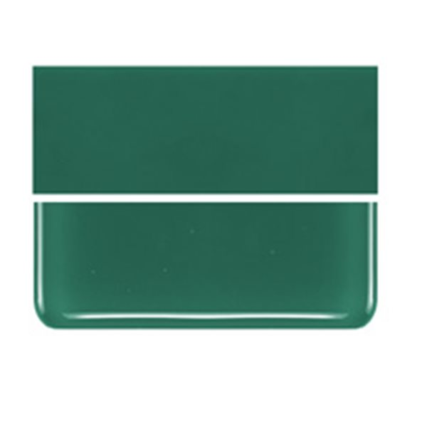 Bullseye Jade Green - Opalescent - 2mm - Thin Rolled - Fusible Glass Sheets