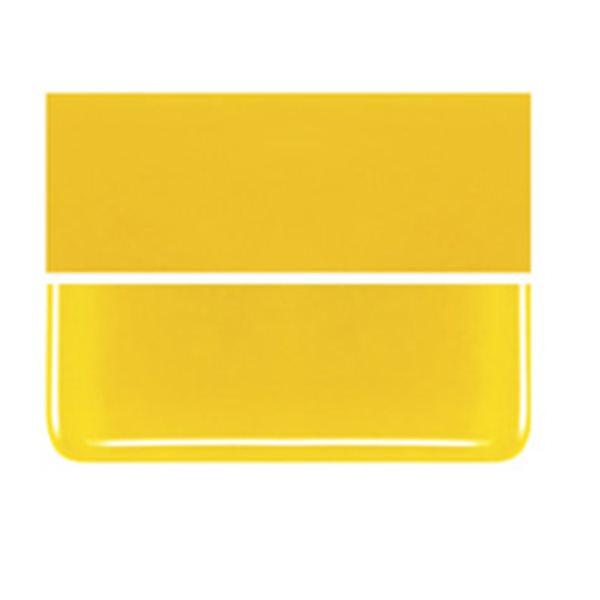 Bullseye Sunflower Yellow - Opalescent - 3mm - Fusible Glass Sheets