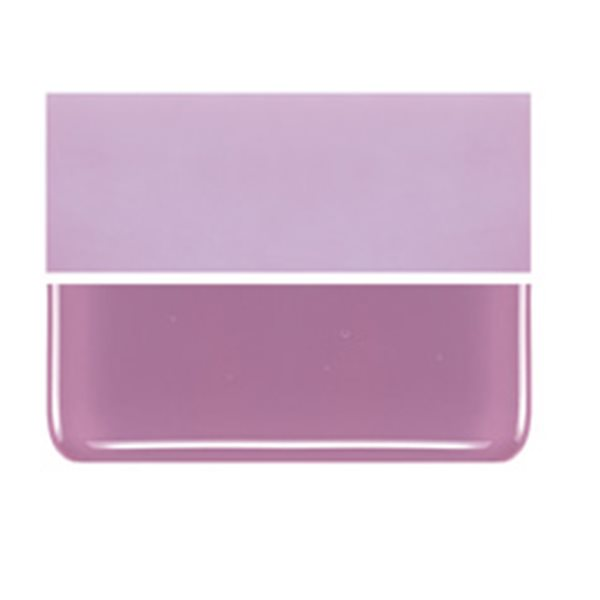 Bullseye Pink - Opalescent - 2mm - Thin Rolled - Fusible Glass Sheets