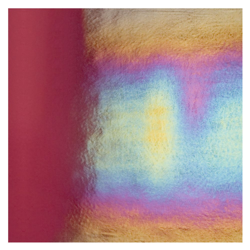 Bullseye Deep Plum - Transparent - Rainbow Iridescent - 3mm - Fusible Glass Sheets