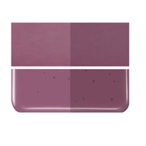 Bullseye Deep Plum - Transparent - 2mm - Thin Rolled - Fusible Glass Sheets