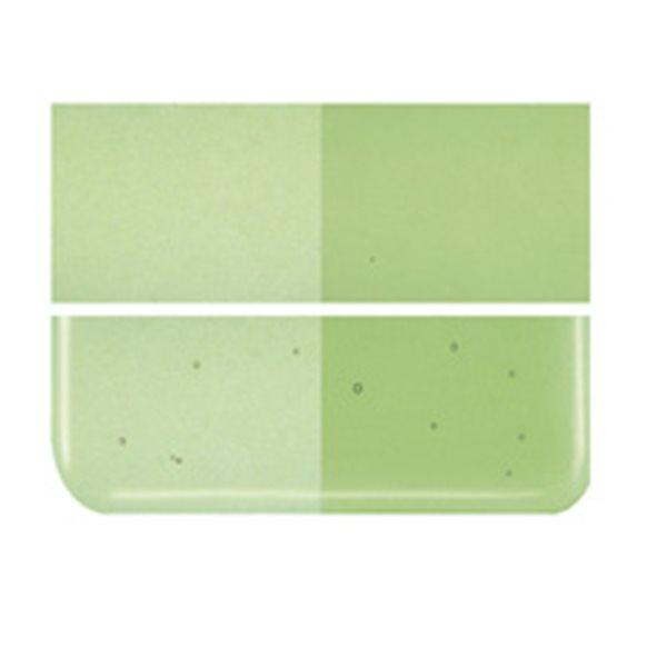 Bullseye Light Green - Transparent - 3mm - Fusing Glas Tafeln
