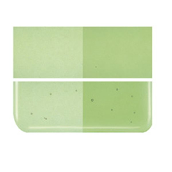 Bullseye Light Green - Transparent - 2mm - Thin Rolled - Fusible Glass Sheets