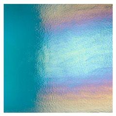 Bullseye Aquamarine Blue - Transparent - Rainbow Iridescent - 3mm - Fusible Glass Sheets