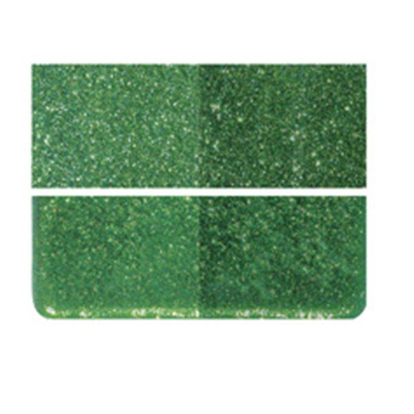 Bullseye Aventurine Green - Transparent - 3mm - Fusible Glass Sheets
