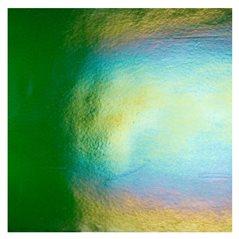 Bullseye Aventurine Green - Transparent - Rainbow Iridescent - 3mm - Fusible Glass Sheets