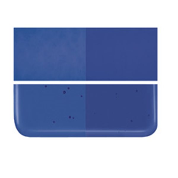 Bullseye Deep Royal Blue - Transparent - 3mm - Fusible Glass Sheets