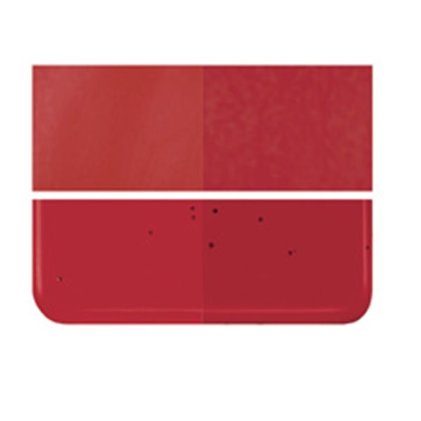 Bullseye Red - Transparent - 2mm - Thin Rolled - Fusing Glas Tafeln