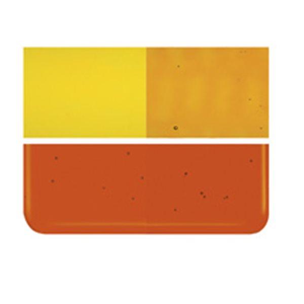 Bullseye Orange - Transparent - 2mm - Thin Rolled - Fusing Glas Tafeln