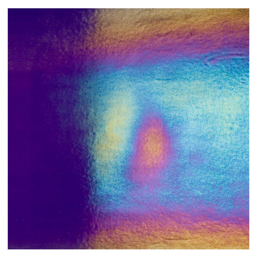 Bullseye Deep Royal Purple - Transparent - Rainbow Iridescent - 3mm - Fusible Glass Sheets