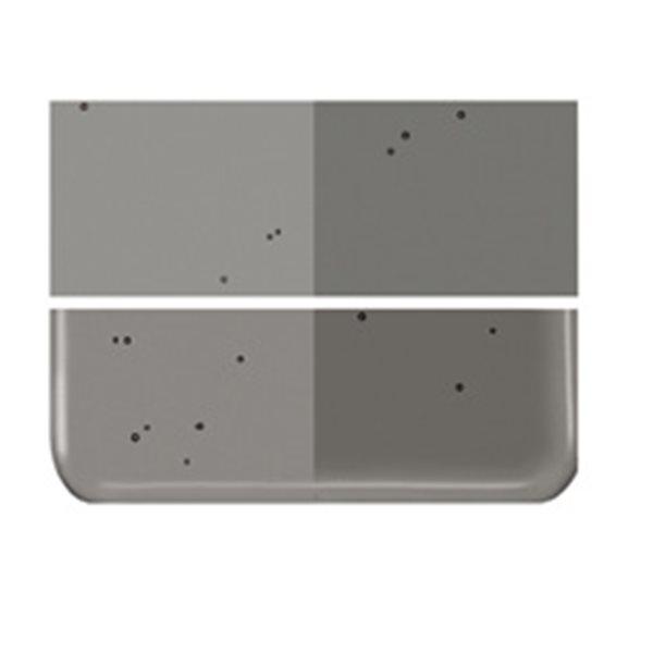 Bullseye Charcoal Gray - Transparent - 2mm - Thin Rolled - Fusing Glas Tafeln