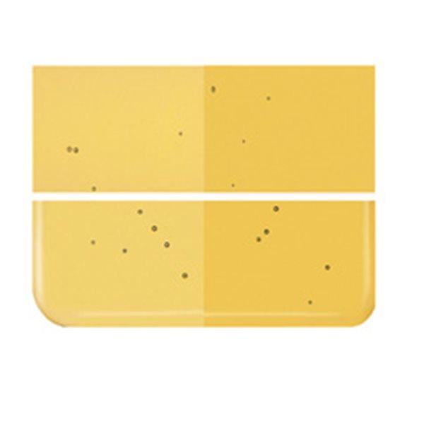 Bullseye Medium Amber - Transparent - 2mm - Thin Rolled - Fusing Glas Tafeln