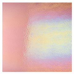 Bullseye Light Plum - Transparent - Rainbow Iridescent - 3mm - Fusible Glass Sheets