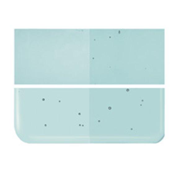 Bullseye Light Aquamarine Blue - Transparent - 3mm - Fusing Glas Tafeln