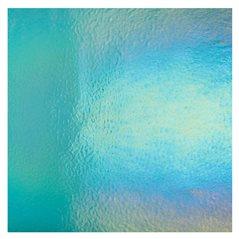 Bullseye Light Aquamarine Blue - Transparent - Rainbow Iridescent - 3mm - Fusible Glass Sheets