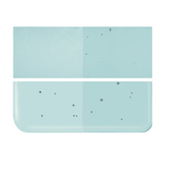 Bullseye Light Aquamarine Blue - Transparent - 2mm - Thin Rolled - Fusing Glas Tafeln