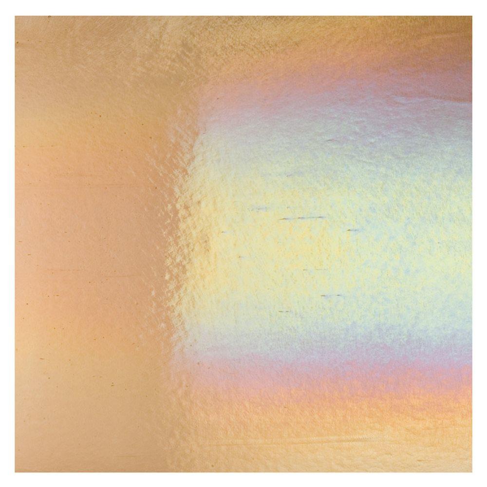 Bullseye Light Bronze - Transparent - Rainbow Iridescent - 3mm - Fusible Glass Sheets