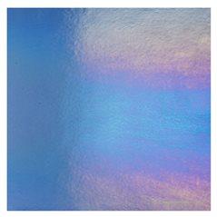 Bullseye Light Sky Blue - Transparent - Rainbow Iridescent - 3mm - Fusible Glass Sheets