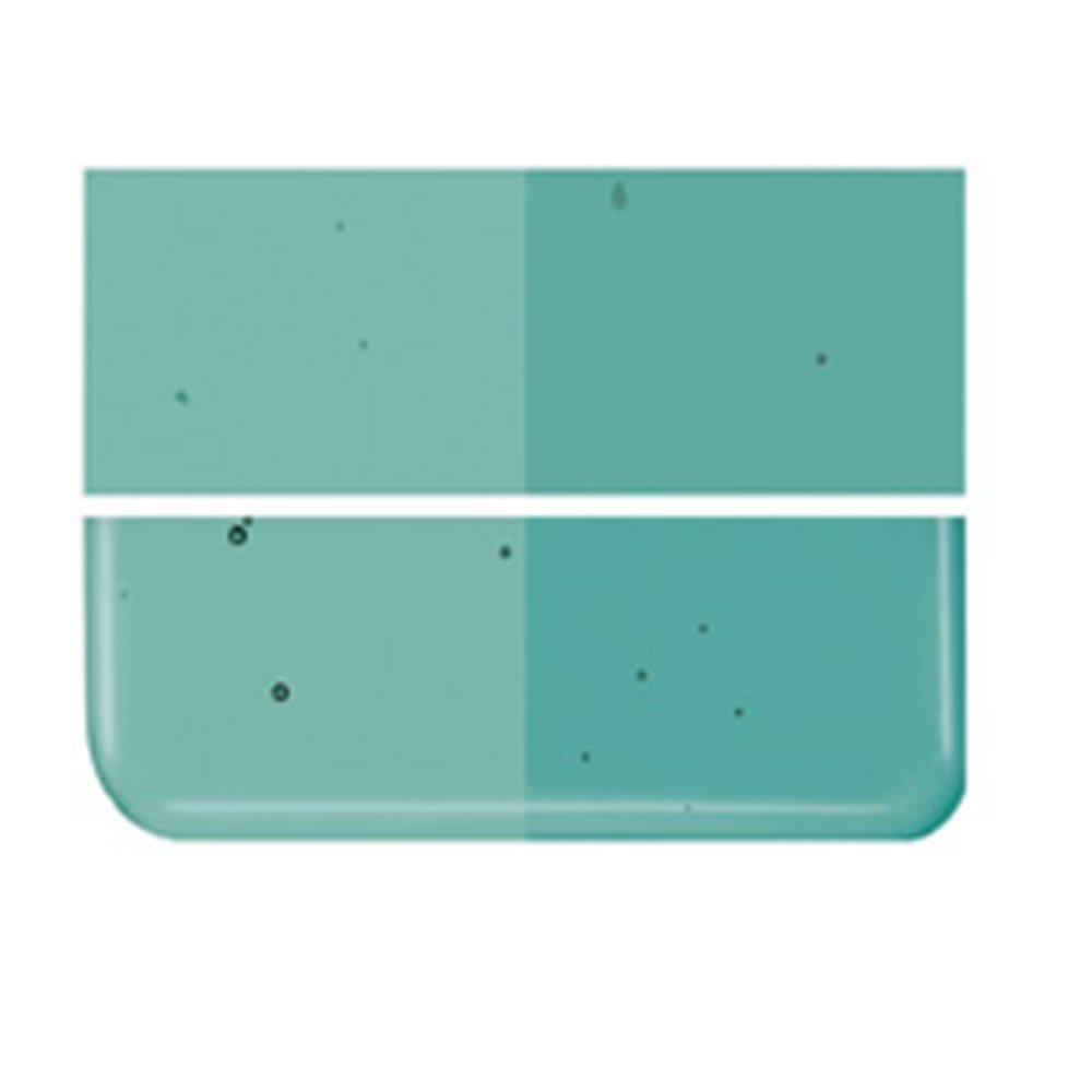Bullseye Emerald Green - Transparent - 2mm - Thin Rolled - Fusing Glas Tafeln