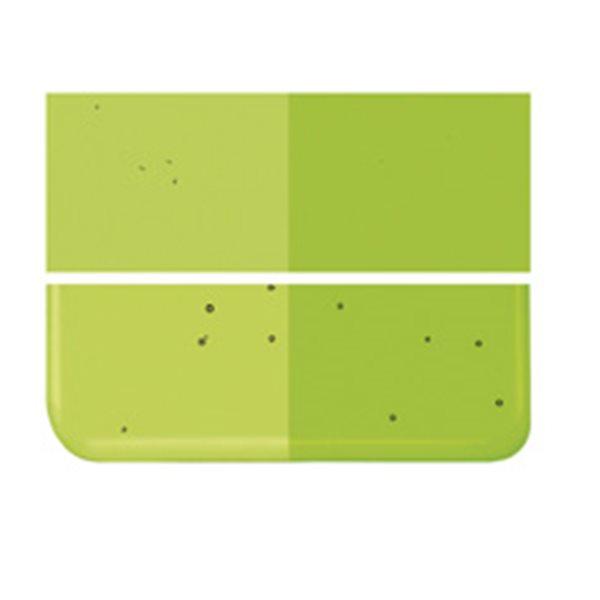 Bullseye Spring Green - Transparent - 2mm - Thin Rolled - Fusing Glas Tafeln
