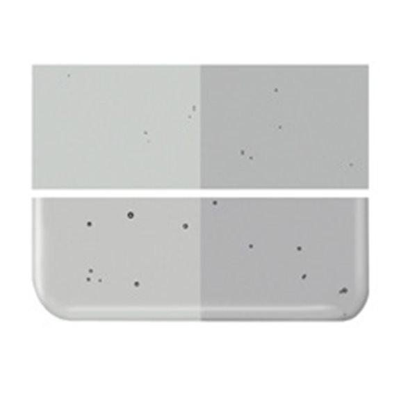 Bullseye Light Silver Gray - Transparent - 2mm - Thin Rolled - Fusing Glas Tafeln