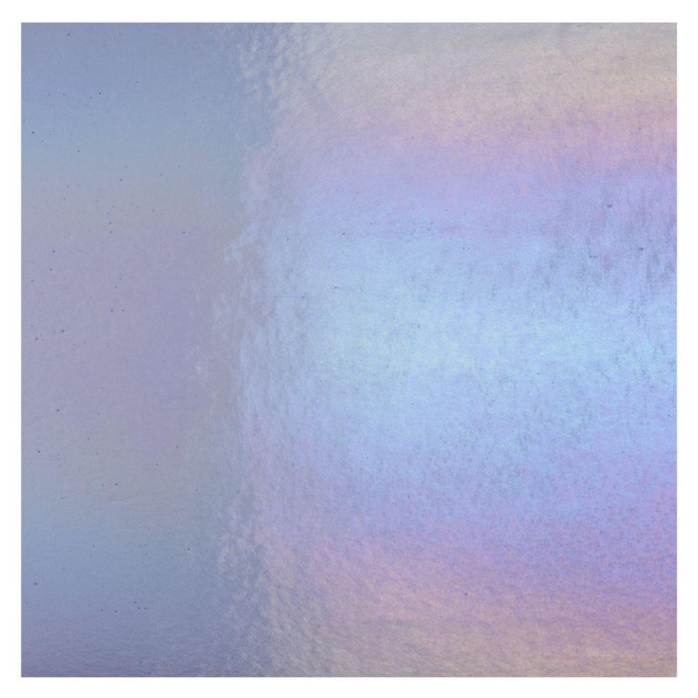 Bullseye Neo-Lavender Shift - Transparent - Rainbow Iridescent - 3mm - Fusible Glass Sheets