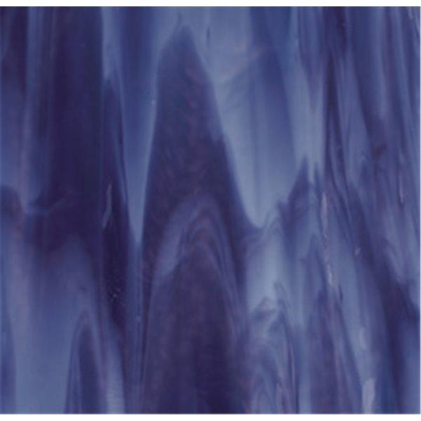 Bullseye Royal Purple - Powder Blue Opal 2 Color Mix - 3mm - Non-Fusible Glas Tafeln