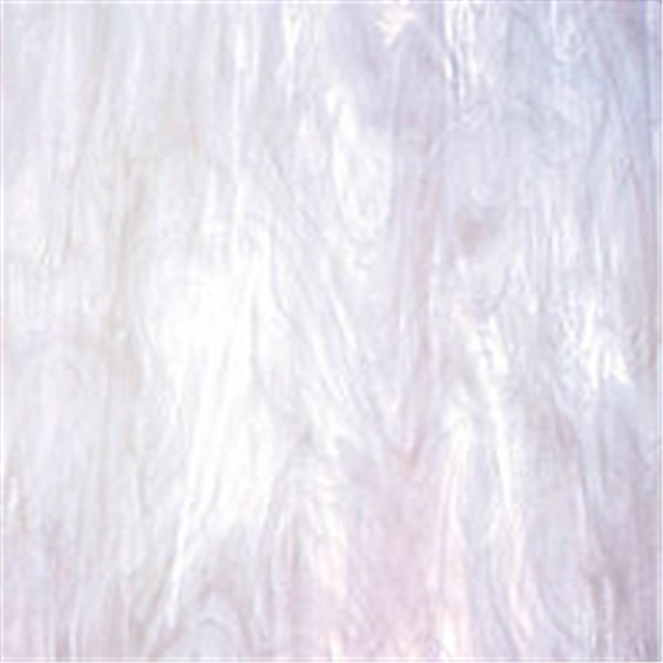 Spectrum Clear and White Translucent Feather White - 3mm - Non-Fusible Glass Sheets