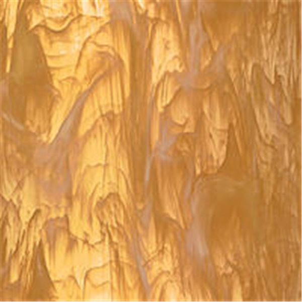 Spectrum Pale Amber Swirl with White Wispy - 3mm - Non-Fusible Glass Sheets