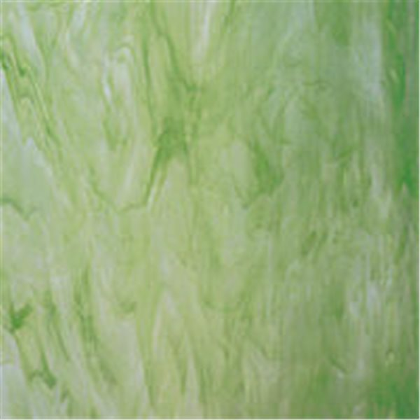 Spectrum White Swirled with Light Green - 3mm - Non-Fusible Glass Sheets