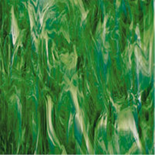 Spectrum Dark Green and White - Translucent - 3mm - Non-Fusible Glass Sheets