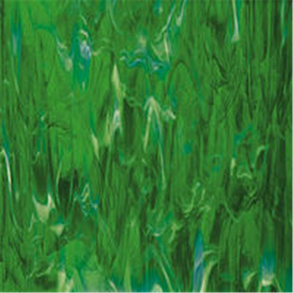 Spectrum Dark Green Swirled with White Wispy - 3mm - Non-Fusible Glass Sheets