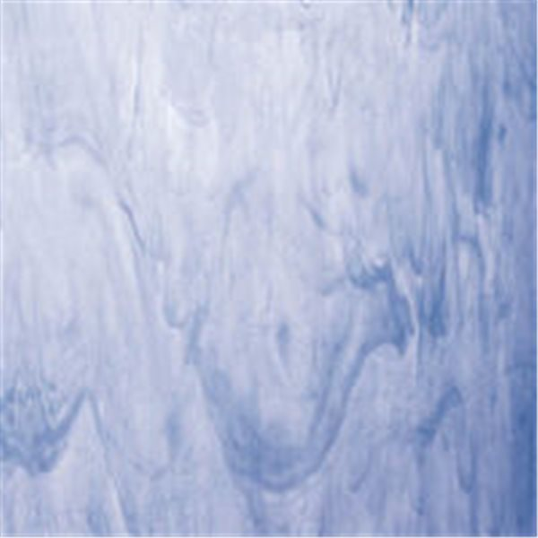 Spectrum White Swirled with Light Blue - 3mm - Non-Fusible Glass Sheets