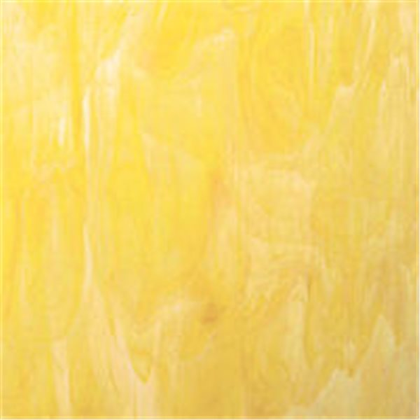 Spectrum White Swirled with Yellow - 3mm - Non-Fusible Glass Sheets