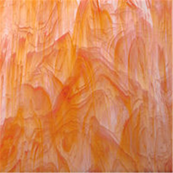 Spectrum White Swirled with Orange - 3mm - Non-Fusible Glass Sheets