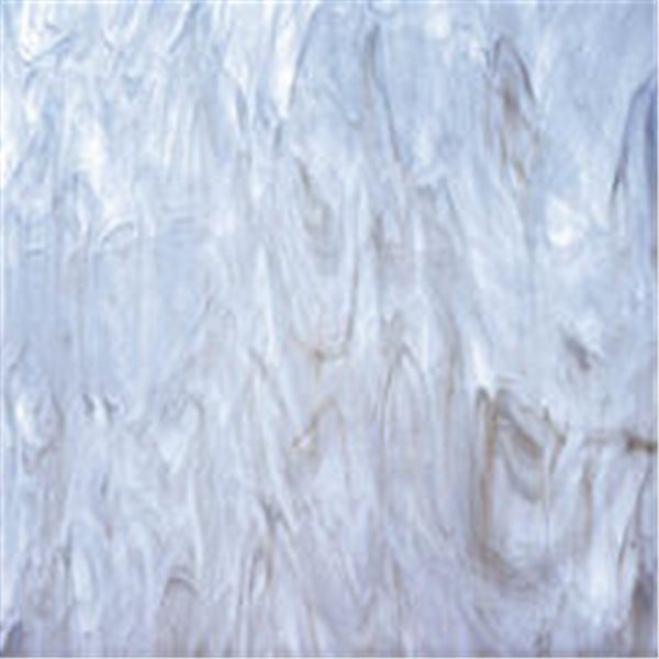 Spectrum White Swirled with Light Gray - 3mm - Non-Fusible Glass Sheets