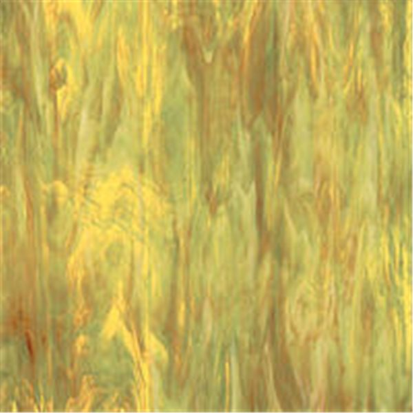 Spectrum Amber Green and White - Translucent - 3mm - Non-Fusible Glass Sheets